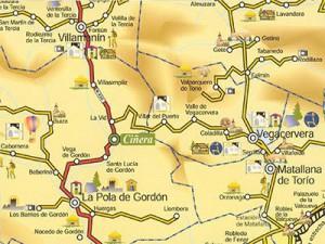 Mapa Ciñera